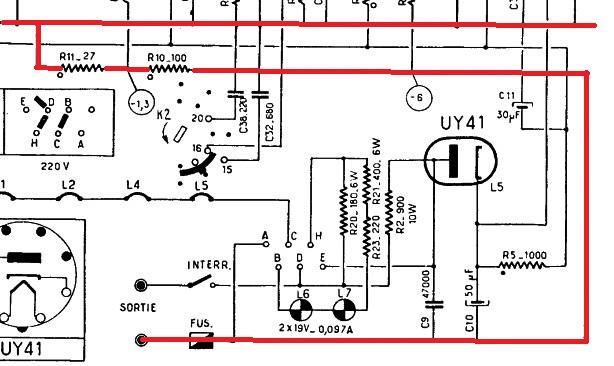 philips type bf311 r paration de la bobine d 39 antenne. Black Bedroom Furniture Sets. Home Design Ideas
