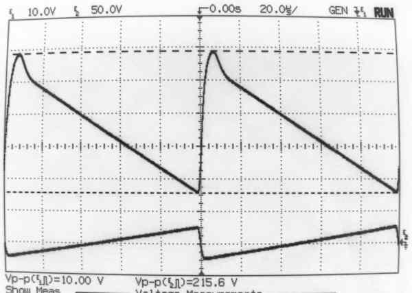 une tv avec un tube d u0026 39 oscilloscope 5 cm   amplificateur  u00e0 deux inverseurs